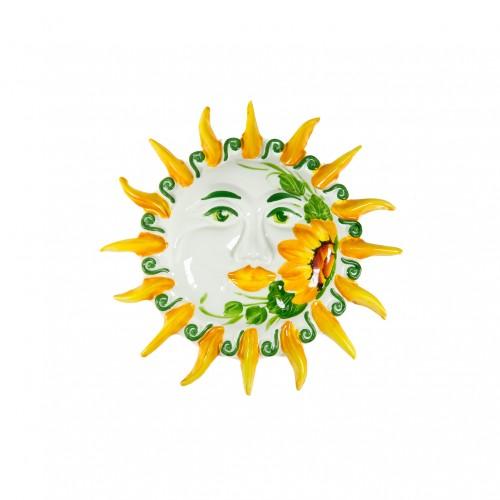 Sole dipinto al girasole