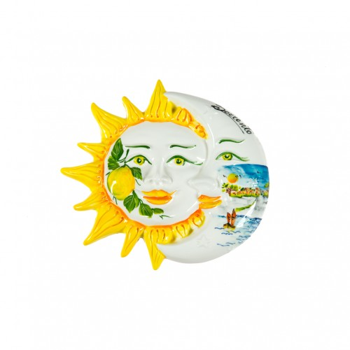 Eclipse sun and moon with Sorrento landscape