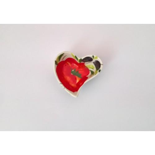 Ciotolina cuore pomodoro oliva 5 cm
