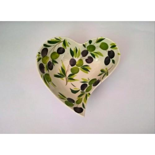 Ciotola cuore oliva 20 cm