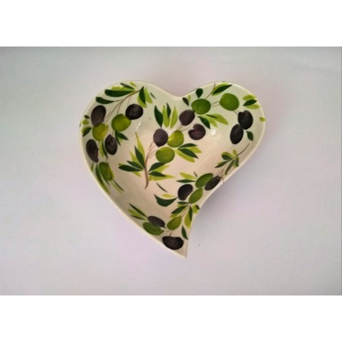 Heart bowl olives 20 cm