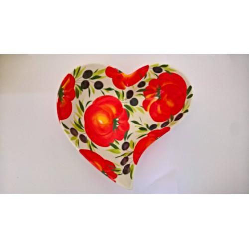 Ciotola cuore pomodoro oliva 30 cm