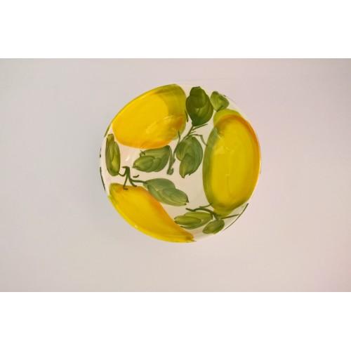 Ciotola Onda dipinta al limone 14cm
