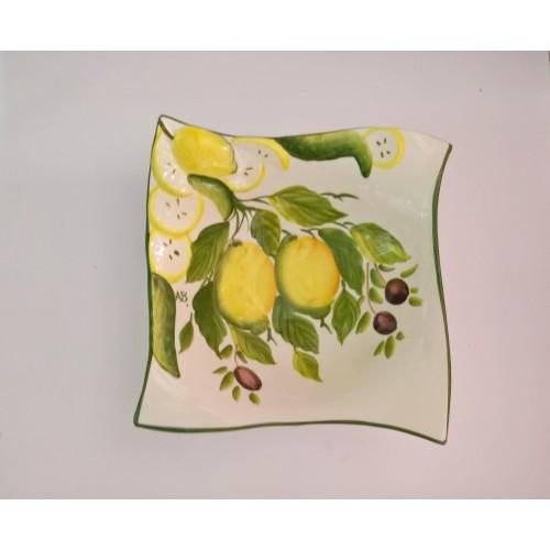 Ciotola a punta ondulata limone e oliva