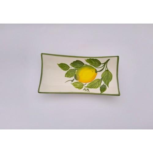 Vassoio piccolo rettangolare decoro limone