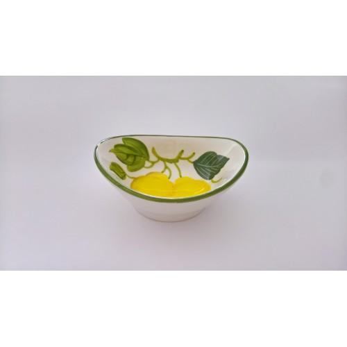 Small  oval bowl lemon painted
