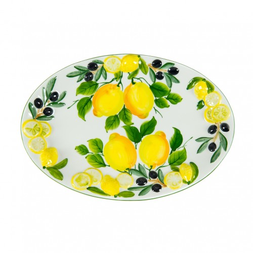 Tray lemon and olives