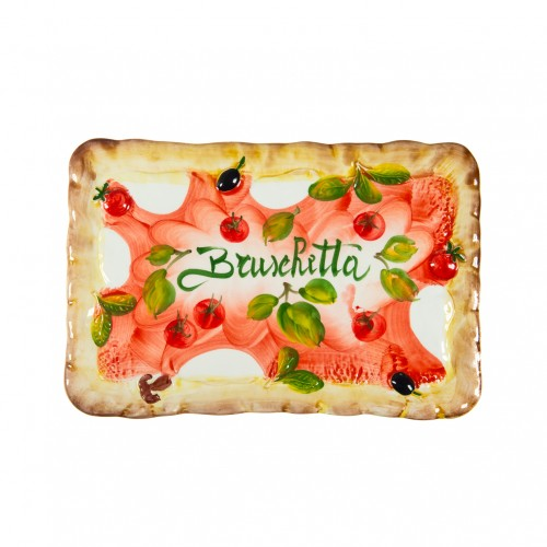 Rectangular plate Bruschetta