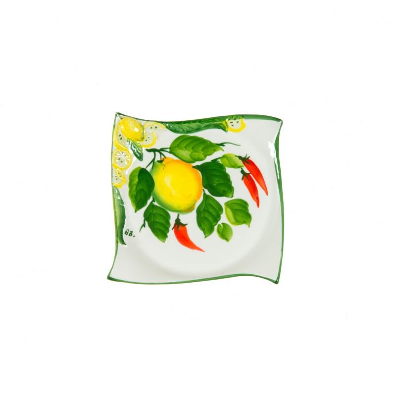 Piatto per  dessert a limone e peperoncino