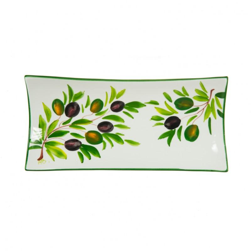 Portapane a oliva dipinto