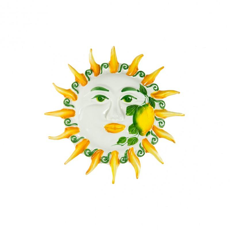Sole da muro dipinto al Limone