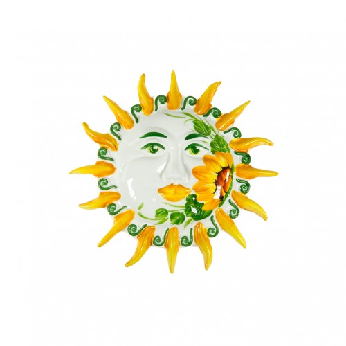 Sun with sunflower painted