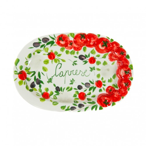 Large serving tray caprese