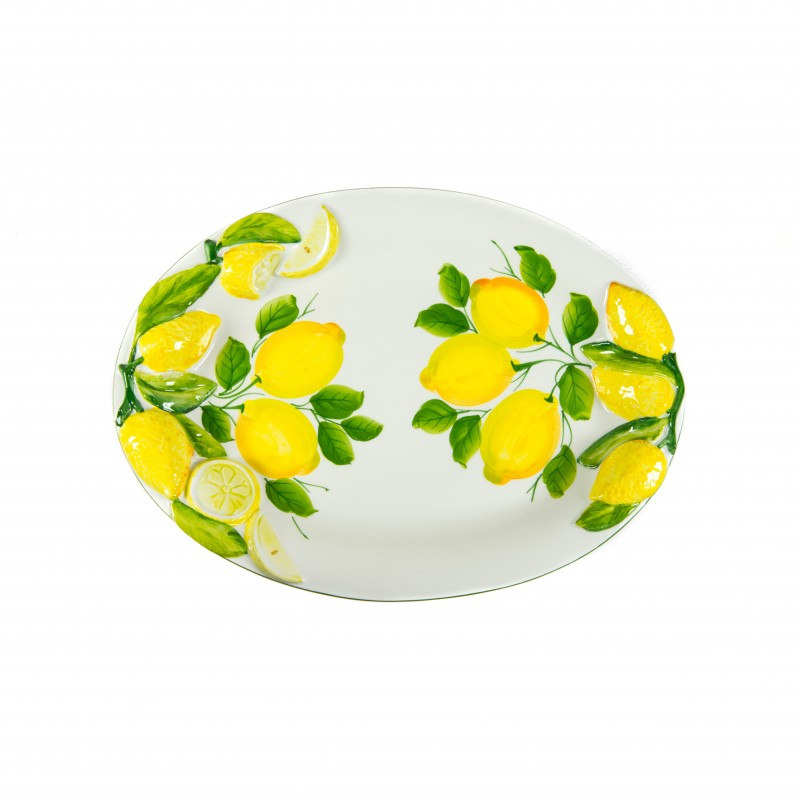 Ceramics Tray with lemon relief