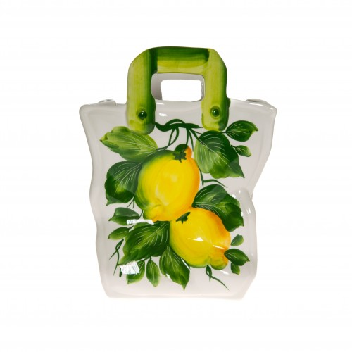 Bag with lemon painted