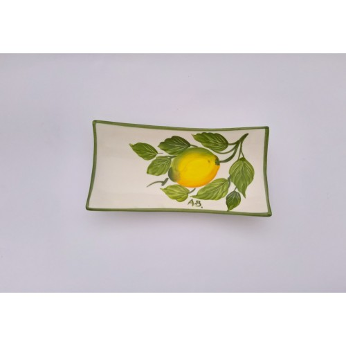 Small Rectangular tray lemon painted