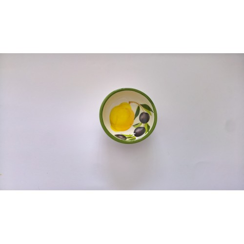 Small round bowl lemon and olive