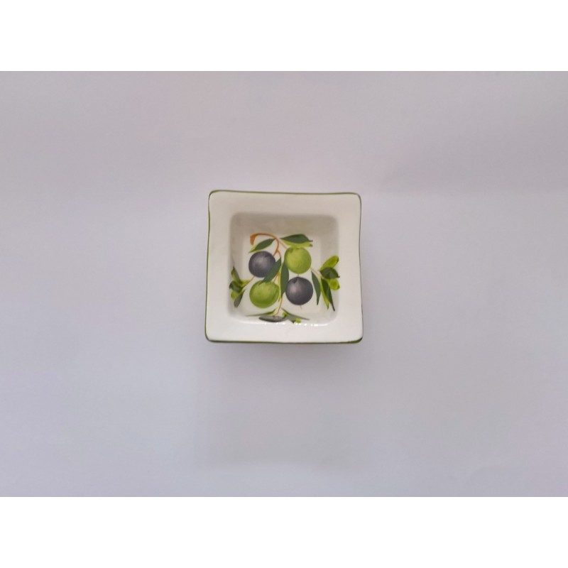 Ciotolina quadrata limone e oliva