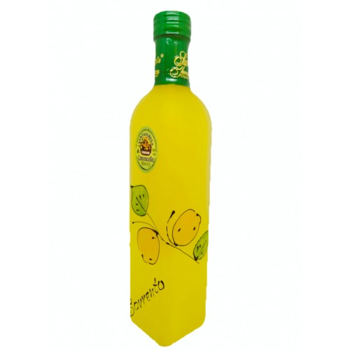 Limoncello with lemon painted 50cl
