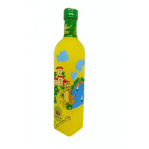 Limoncello with painted landscape 50cl