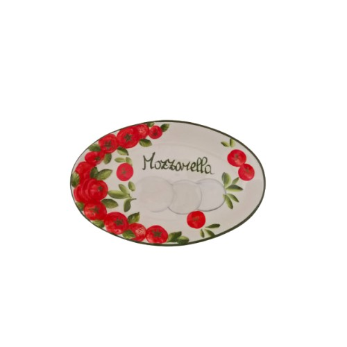 Oval tray caprese without olives