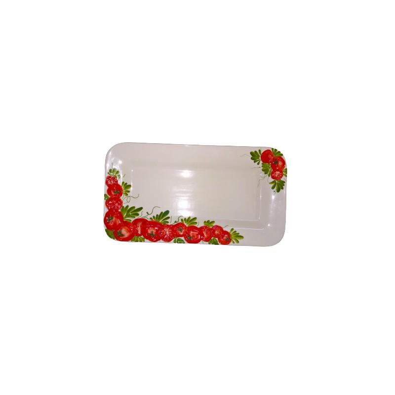 Vassoio rettangolare pomodoro