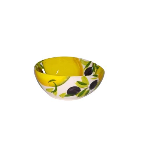 Ciotolina onda limone e oliva 14cm