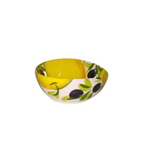 Small wavy bowl lemon and olives