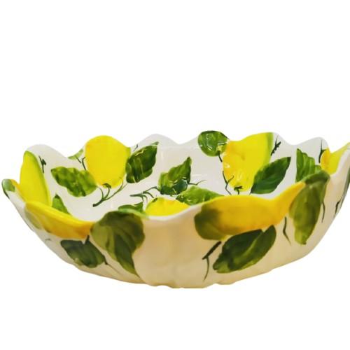 Large lemon salad bowl
