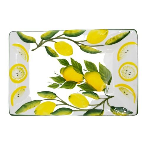 Vassoio limone dipinto e rilievo