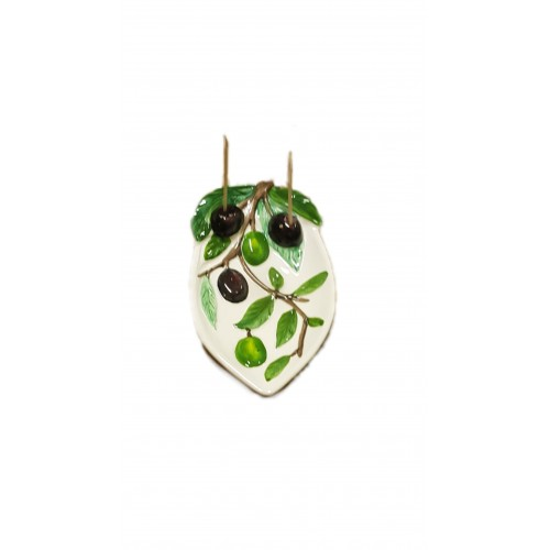 Piattino Olive in rilievo
