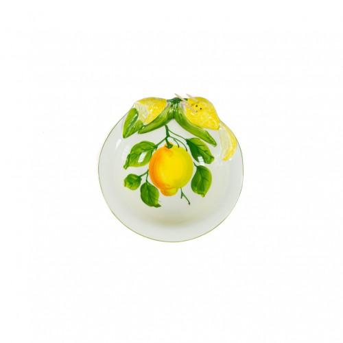 Ciotolina in ceramica con  limone dipinto