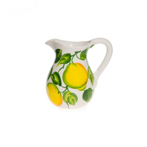 Jug with lemon painted