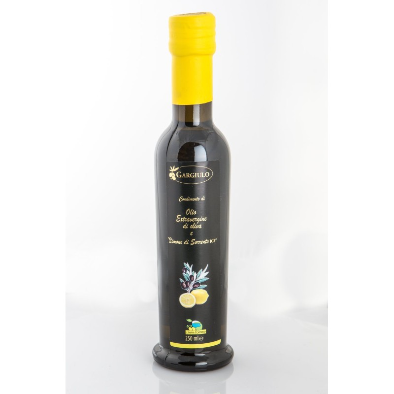 Extra virgin olive oil with lemon